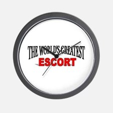 """The World's Greatest Escort"" Wall Clock"
