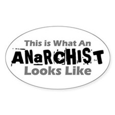 Anarchist Oval Decal