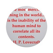 lovecraft9.png Ornament (Round)