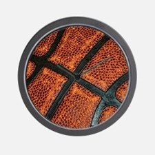 Old Basketball Pattern Wall Clock