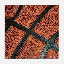 Old Basketball Pattern Tile Coaster