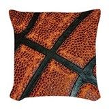 Old basketball Throw Pillows