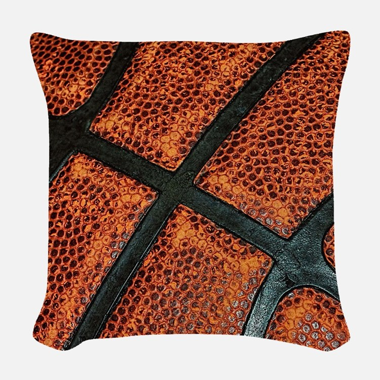 Old Basketball Pattern Woven Throw Pillow