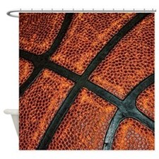 Old Basketball Pattern Shower Curtain