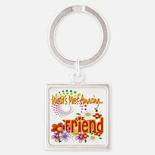 Amazing friend copy Square Keychain