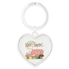 Sweetest aunt copy Heart Keychain