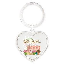 Sweetest grammy copy Heart Keychain