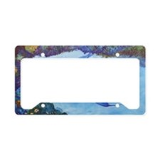 Looking In  3 dolphins horiz License Plate Holder