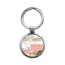 Sweetest mema copy Round Keychain