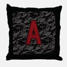 scarlet-a_square Throw Pillow