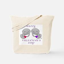 Manatee Valentine Tote Bag