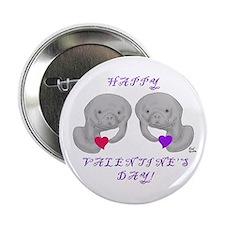Manatee Valentine Button