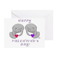 Manatee Valentine Greeting Cards (Pk of 10)