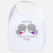 Manatee Valentine Bib