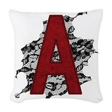 scarlet-a_tr2 Woven Throw Pillow