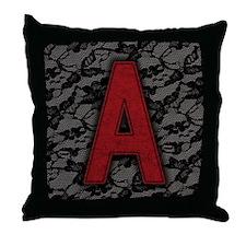 scarlet-a_9x12 Throw Pillow