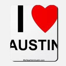 I Love Austin Mousepad