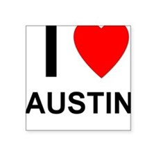 "I Love Austin Square Sticker 3"" x 3"""