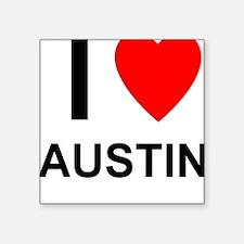 """I Love Austin Square Sticker 3"""" x 3"""""""