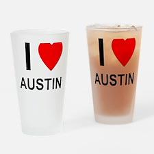 I Love Austin Drinking Glass