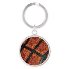 Old Basketball Pattern Keychains