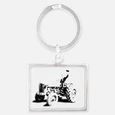 TRACTOR2 copy Landscape Keychain