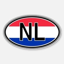 Netherlands Euro Oval Stickers