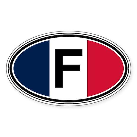 France Euro Oval Sticker