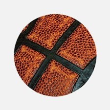 "Old Basketball Pattern 3.5"" Button"