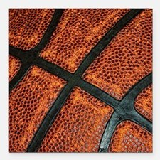 "Old Basketball Pattern Square Car Magnet 3"" x 3"""