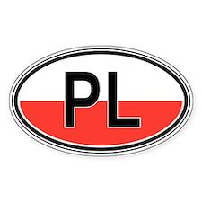 Poland Euro Oval Stickers