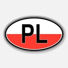 Poland Euro Oval Stickers