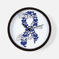 Peace Love Cure Yudu Dark Blue Wall Clock