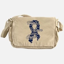Peace Love Cure Yudu Dark Blue Messenger Bag