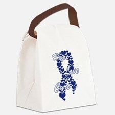 Peace Love Cure Yudu Dark Blue Canvas Lunch Bag