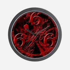 NumberOfTheBeast1Front-11x11 Wall Clock