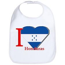 I love flag Honduras Bib