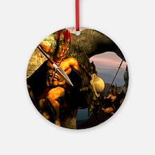 Spartans-11x11 Round Ornament