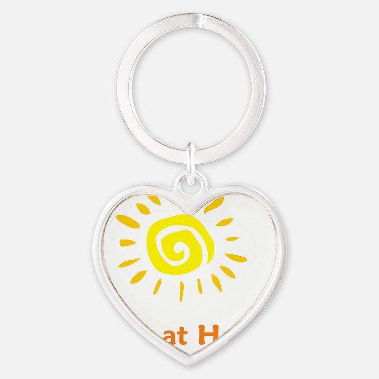 BornatHomeSun Heart Keychain