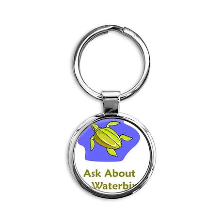 AskWaterTurtle Round Keychain