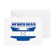 Flag Honduras Ribbon Greeting Cards (Pk of 10)