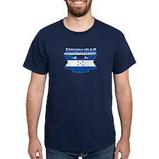 Flag Honduras Ribbon T-Shirt