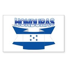Flag Honduras Ribbon Rectangle Decal