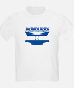Flag Honduras Ribbon Kids T-Shirt