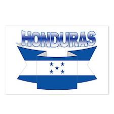 Flag Honduras Ribbon Postcards (Package of 8)