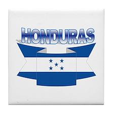 Flag Honduras Ribbon Tile Coaster