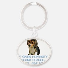 SecondChance Oval Keychain