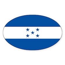 The Flag of Honduras Oval Decal