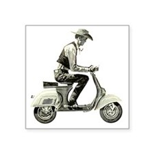 "Scooter_Cowboy copy Square Sticker 3"" x 3"""