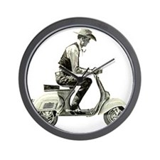 Scooter_Cowboy copy Wall Clock